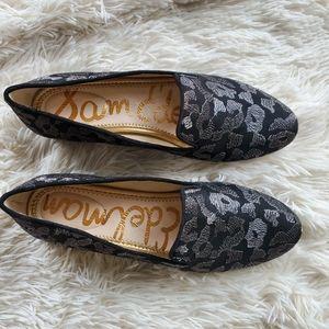 Sam Edelman Jordy Animal Print Metallic Loafers
